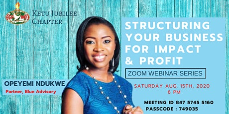 Structuring Your Business for Impact & Profit tickets