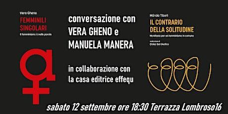 Conversazione con Vera Gheno e Manuela Manera biglietti