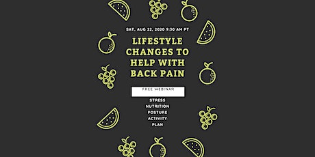 Lifestyle Changes for Back Pain tickets