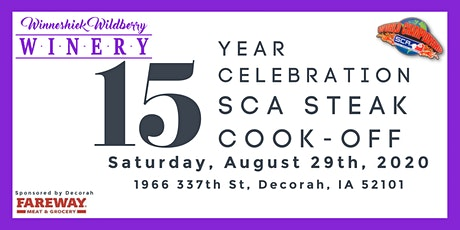 15th Year Celebration and SCA Steak Cook-off tickets