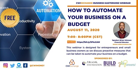 How to Automate Your Business on a Budget Webinar tickets