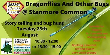 Dragonflies and other woodland bugs. tickets