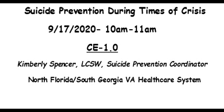 Suicide Prevention During Times of Crisis tickets