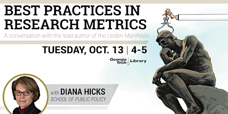 Best Practices in Research Metrics: A Conversation with Dr. Diana Hicks Tickets