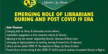 EMERGING ROLE OF LIBRARIANS DURING AND POST COVID-19 ERA tickets