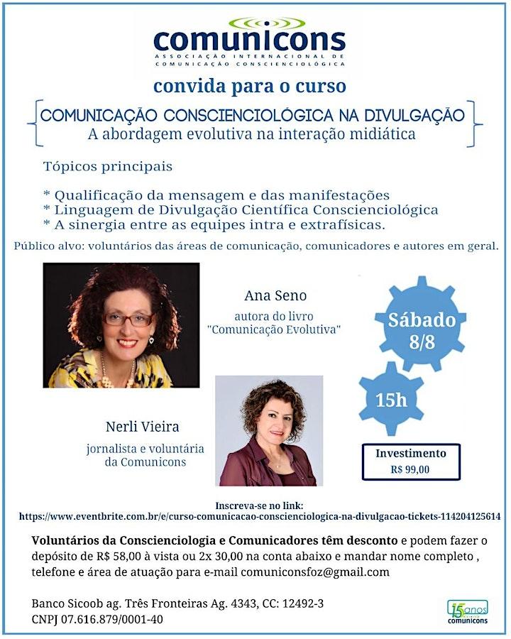 Imagem do evento Curso Comunicação Conscienciológica na Divulgação