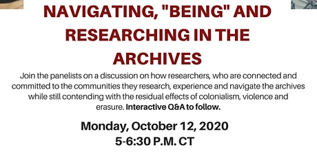 "Navigating, ""Being"" and Researching in the Archives tickets"