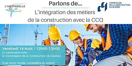 Parlons de : L'intégration des métiers de la construction billets