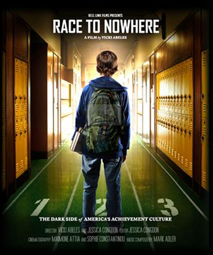 """""""Race to Nowhere"""" presented by Liberated Learners image"""