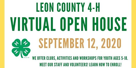 Leon County 4-H Virtual Open House tickets