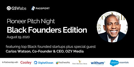 GSVlabs Pioneer Pitch Night - Black Founders Edition Tickets