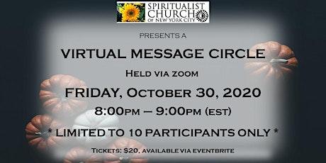 SCNYC October 30, 2020 Virtual Message Circle tickets