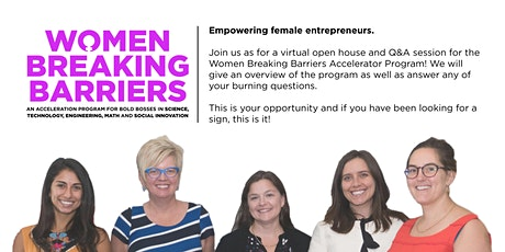 Women Breaking Barriers Information Session tickets
