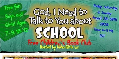 Free Children's Book Club will get kids talking about going back to school. tickets