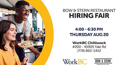 Bow & Stern Restaurant: Hiring fair tickets