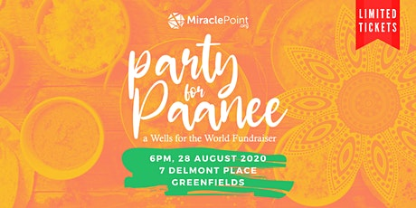 Party for Paanee (Water) - Wells for the World Fundraiser billets