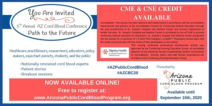5th Annual Arizona Cord Blood Conference (CME  accredited) - ONLINE image