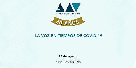 SAV 20 años   La Voz en tiempos de Covid-19 entradas