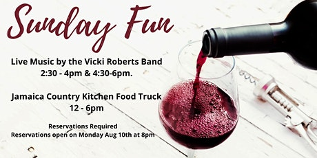Winery Reservations (Free) Sun Aug 16th 4:30-6:30pm tickets