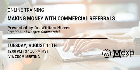 Making Money with Commercial Referrals tickets