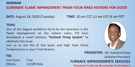 Get Rid of Hot Spots and High Tube Metal Temperatures in your Fired Heaters tickets