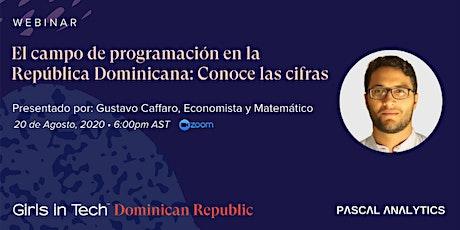 El campo de programación en la República Dominicana: Conoce las cifras tickets