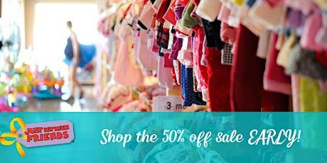 50% off sale SHOP EARLY (9/11) | Just Between Friends Folsom | Fall  2020 tickets
