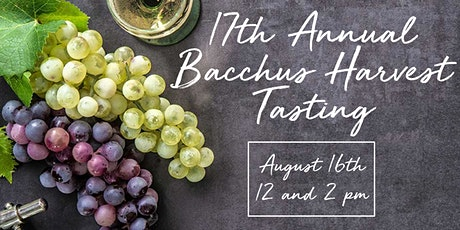 17th Annual Bacchus Harvest Tasting tickets