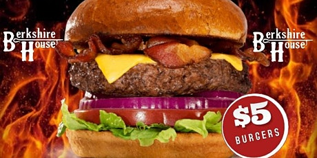 Monday Burger Night @ Berkshire House (Outdoor Patio w/ Food & Drink Deals) tickets