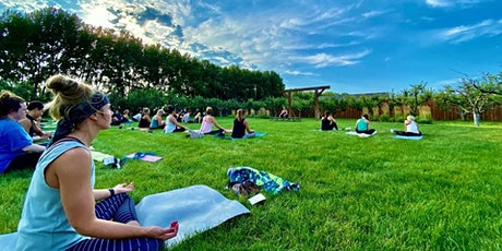 Fire Flow Yoga and Wine Flight in the Orchard tickets