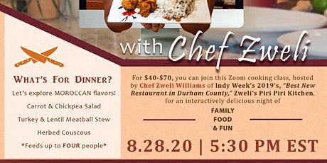 VIrtual Cooking Class with Chef Zweli Williams tickets