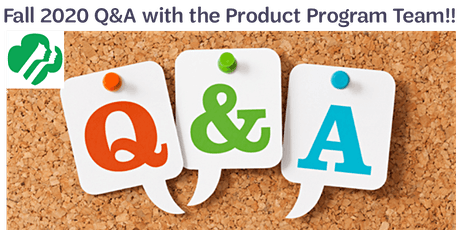 Fall 2020 Q&A with the Product Program Team!! tickets