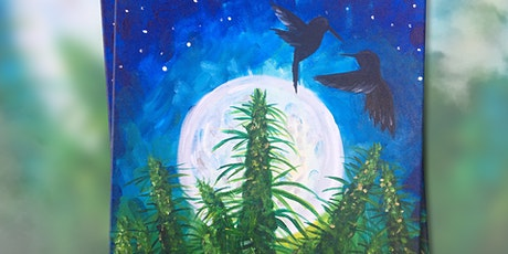 """Virtual Paint and Puff - """"Blue Dream"""" ( Online Paint Night at Home) tickets"""