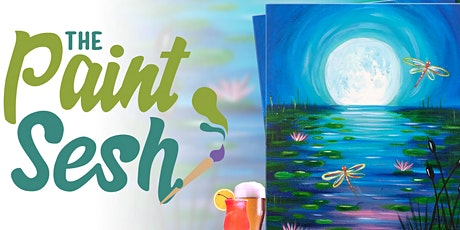 """Virtual Paint and Sip - """"Twilight Pond"""" ( Online Paint Night at Home) tickets"""