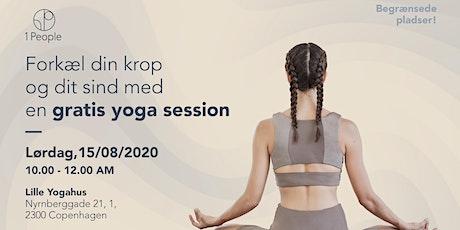 Forkæl din krop og dit sind med en gratis yoga session tickets