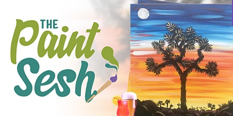 """Virtual Paint and Sip - """"Joshua Tree Sunset"""" ( Online Paint Night at Home) tickets"""