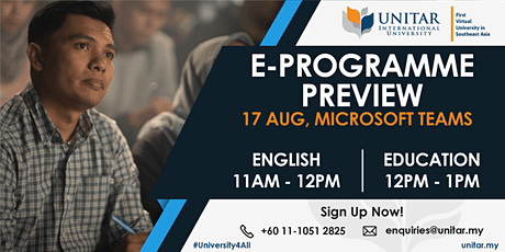 English & Communication E-programme preview (17 August 2020) tickets