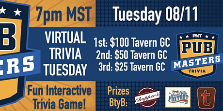 Virtual Trivia Tuesday w/ Pub Masters Trivia - Tavern Hospitality Group tickets