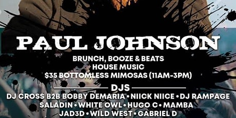 The Sunday Smoke Out Brunch Ft Paul Johnson & DJ Cross Bday Set tickets