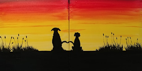 "Virtual Painting Party ""Best Friends at Sunset"" with Creatively Carrie! tickets"