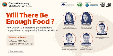 """Climate Emergency: YOUth Action - """"Will There Be Enough Food?"""" tickets"""