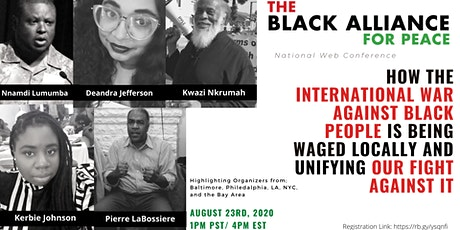How the International War Against Black People is Being Waged Locally tickets