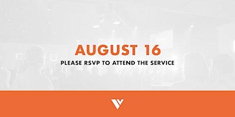 RSVP - August 16 Service tickets
