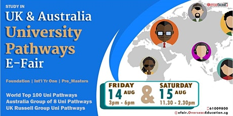 Study in Australia & UK University Pathways E-FAIR tickets