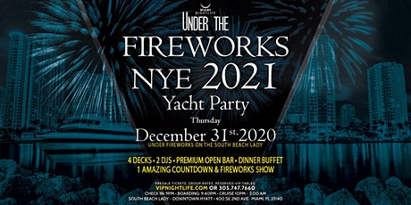 Miami Under the Fireworks Yacht Party New Year's Eve 2021 boletos