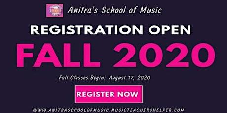 ASOM 2020 FALL VIRTUAL MUSIC CLASSES REGISTRATION tickets