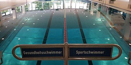 Schwimmen/Schwimmhalle  am 15. August 9:00 - 10:45 Uhr Tickets