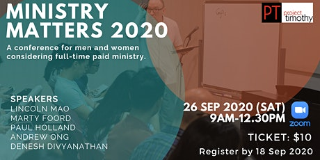 Ministry Matters 2020 | Project Timothy tickets