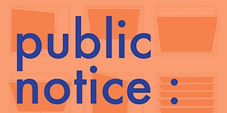 public notice : Curators' Tour tickets