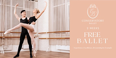 TWO WEEKS FREE Live Ballet Class for Adults tickets